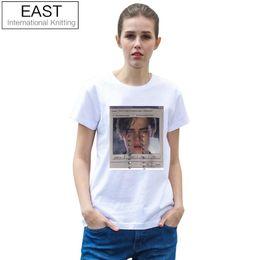 Discount women funny graphic tee - EAST KNITTING H671 2017 Summer Brand Women Tees Funny Women T-Shirt Leonardo DiCaprio Printed Grunge White Tshirt Graphi