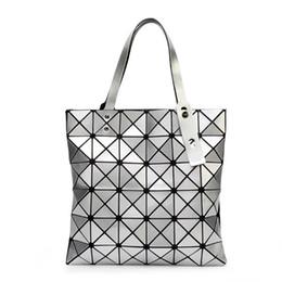 c465638cdb25 Japanese women handbags online shopping - Japanese style diamond geometry  bag Lingge patent leather folding handbags