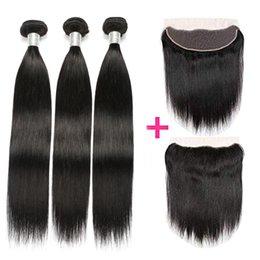 Черные женщины прически интернет-магазины полный кутикулы нет химических девственных натуральных волос пучки уток с 13x4 уха до уха кружева фронтальная