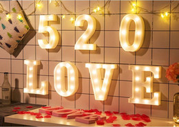 Wholesale Alphabet A Z LED Letter Lights Light Up White Plastic Letters Standing Hanging Ornament Christmas Tree Decoration Navidad Gift
