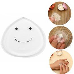 $enCountryForm.capitalKeyWord Canada - Smile Face Water Shape Silicone Powder Puff Silica Gel Makeup Puff Facial Cosmetic Cream Puff high quality