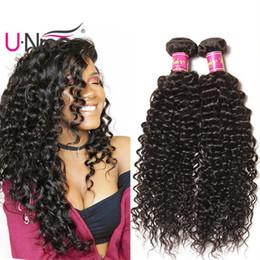 Cheap Human Hair Extensions 24 Inch Australia - UNice Hair Malaysian Kinky Curly Wave 5 Bundles 100% Human Hair Extensions 8-26 inch Virgin Human Hair Weave Bundles Wholesale Cheap Bulk