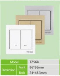 $enCountryForm.capitalKeyWord Australia - Z Wave controller TZ56D, Z-WAVE Dual wall mounted Switch (3 wire) For lighting control,For Home appliance Control