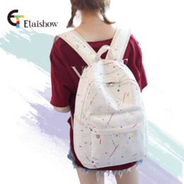 4c0480fe62d8 Denim backpack female Korean version of the small fresh printed backpack  literary and art casual junior high school student bag
