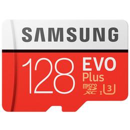 Vente en gros Samsung Original 128 Go EVO + Carte mémoire MB-MC128G EVO plus U3 64 Go 256 Go Class10 Dash Caméra TF Carte Livraison gratuite