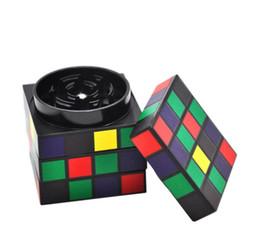 Cube diameter online shopping - New type cigarette grinder aluminum alloy magic cube shape cigarette mill aluminum alloy large mm diameter cigarette lighter