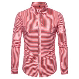 5d004268e5d Men Fashion Casual Long Sleeved Solid shirt Mens Long Sleeve Oxford Formal  Casual Suits Slim Fit Tee Dress Shirts Blouse Top