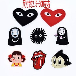 China Wholesale New Japanese anime Spirited Away My Neighbor Totoro Soft Decoration Charms Flat PVC DIY Gadgets Novelty Accessories J-60 suppliers