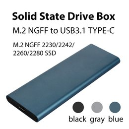 SSd hard diSk for deSktop online shopping - SSD Hard Disk Box Aluminum Alloy M NGFF To USB3 Type C High Speed External Enclosure Hard Drive Cases for Laptop Desktop