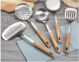 $enCountryForm.capitalKeyWord NZ - High Quality Cookware Sets 304 Stainless Steel Kitchen Cooking Tools Set Non-slip Heat Resistant Wooden Handle Kitchenware Utensil Set