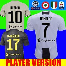 08157e93e Player version RONALDO 18 19 Juventus soccer jersey football shirt JUVE  Federico Bernardeschi 2018 2019 DYBALA PJANIC MATUIDI Costa uniforms