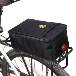 Light bike bags online shopping - Waterproof Bicycle Back Seat Bag Road Bike Rack Back Rear Seat Tail Carrier Trunk Pouch Handbag with Light Black Pannier Bags