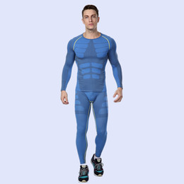 $enCountryForm.capitalKeyWord NZ - New 2018 Mens Man Clothes Sets Compression Base Layers Fitness Tights Pant Top Skins Shirt Female T-shirts+Tight Pant Leggings