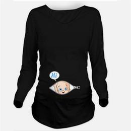 aa1cf71b694e3 Autumn Maternity T-shirts Tees Women Cute Maternity Clothes Tops Funny  Pregnancy Long Sleeve T shirts Pregnant Women Plus Size