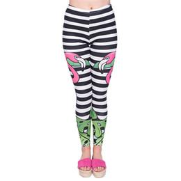 84ea324e88a1d Women Leggings Flamingo Tropical Stripe 3D Print Lady Pencil Pants Girls  Workout Stretchy Tight Capris Yoga Soft Trousers (GL45939)
