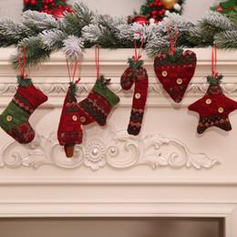 xmas knitted candy cane ornament christmas tree pendant drop ornaments decorations mini cane stick craft star xmas tree decor