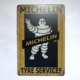 $enCountryForm.capitalKeyWord UK - Michelin Tyre Service Vintage Rustic Home Decor Bar Pub Hotel Restaurant Coffee Shop home Decorative Metal Retro Metal Tin Sign