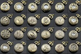 Antique Necklace Australia - 2018 New Design mix style 20pcs Antique Pocket watch with chain Necklace Classic Pocket Watches Top quality Fashion Jewelry