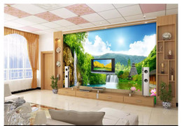 $enCountryForm.capitalKeyWord Australia - Wholesale-Customized photo wall mural wallpaper Jiangshan picturesque landscape landscape wall decoration painting wallpaper for walls 3d