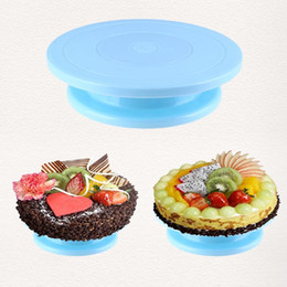$enCountryForm.capitalKeyWord NZ - 28cm Plastic Cake Turntable DIY Cake Plate Revolving Decoration Rotating Stand Platform Turntable Round Cake Stand Baking Tool