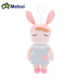 $enCountryForm.capitalKeyWord Australia - Wholesale-Mini Kawaii Plush Stuffed Animal Cartoon Kids Toys for Girls Children Baby Birthday Christmas Gift Angela Rabbit Metoo Doll