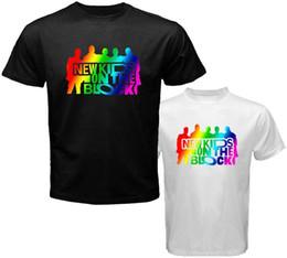 Black Blocks Australia - NKOTB New Kids On The Block Boy Band Logo Men's White Black T-Shirt Size S-3XL Chinese Style