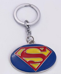 Car Superman Logo Australia - New Arrival Superman S Logo Keychain DC Comics Series Jewelry blue Metal Keyring For Men and Women Free Shipping