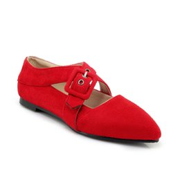 $enCountryForm.capitalKeyWord UK - 2018 spring and autumn Europe and America simple leisure fashion Institute wind sweet pure colored buckle pointed sole shoes XW18-060603