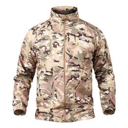 9ab94632dc6 Summer Tactical Navy Seal Lightweight Camouflage Jacket Men Waterproof Thin  Hood Raincoat Windbreaker Army Skin Jackets