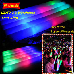 glow sticks club 2019 - 100Pcs LED Colorful Concert Party Club Cheer Sponge Glowsticks Wedding Glow Sticks for Concert Christmas Party Accessori