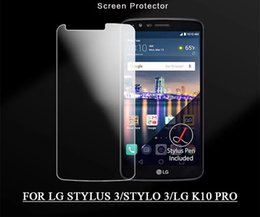 Chinese  PURE KASE Tempered Glass Screen Protector Film 9H Harness Real Premium for LG Stylus 3 LG K10 Pro manufacturers
