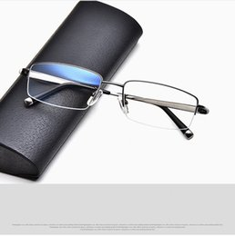 $enCountryForm.capitalKeyWord NZ - A+Concise Business Men frame elastic temple glasses Ultra-light Pure-Titanium half-rim rectangular frame 54-17-145 prescription eyewear