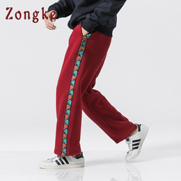 Wholesale men cashmere pants for sale - Group buy Zongke Chinese Style Thick Cashmere Harem Pants Men Jogger Hip Hop Pants Men Trousers Streetwear Joggers Autumn