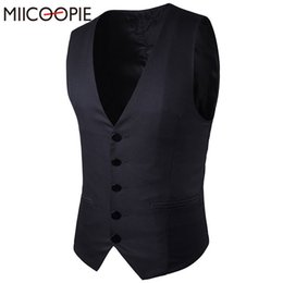 $enCountryForm.capitalKeyWord NZ - Suit Vest Men Wedding Waistcoat Black Navy Sleeveless Casual Jacket Spring Chaleco hombre British Style Clothing Chaleco Hombre