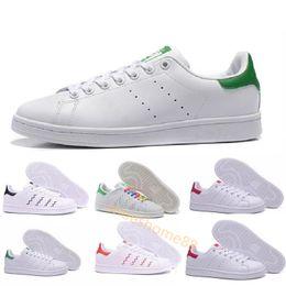 quite nice ed1b5 1c31a Los hombres de las mujeres de calidad superior nuevo stan zapatos de moda  smith sneakers Zapatos casuales de cuero deporte pisos clásicos