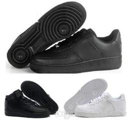 2143bfec 2018 nuevo estilo Casual New Forces White negro Low High Cut Mens Women  exterior zapatos para caminar Zapatos de hombre clásico