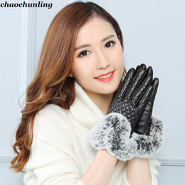 2018 Новый осень и зима Япония и Южная Корея женщины сенсорный экран перчатки мода высокое качество Леди средний код меховые перчатки