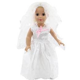 03f6c754204a Dolls Accessories American Girl Doll White Wedding Dress Veil Handmade American  Girl Doll 18 Inch Clothes Wedding Dress MG-011