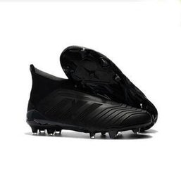 Predator 18+ FG Football Boots Cheap Men Soccer Shoes Laceless Cleats Socks  High Ankle Outdoor Sneakers Size 39-45 76e4676b8d62