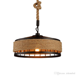 $enCountryForm.capitalKeyWord Australia - loft hemp rope pendant light industrial vintage hanging lights iron & rope chandeliers droplight for restaurant Bar coffee room decoration