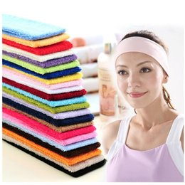 materials hair 2019 - Lenwave Fitness Absorbing Sweat Yoga Hairband Women Sport Gym Indoor Soft Material Stretch Elasticity Sport Hair bands d