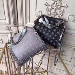 Korea style handbags online shopping - High end bags female new tide fashion chain shoulder bag personalized rivet handbag Japan and South Korea tide bag