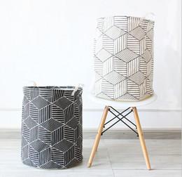 $enCountryForm.capitalKeyWord Australia - Large Sized Waterproof Foldable Laundry Hamper Storage Bucket Dirty Clothes Laundry Organizer Canvas Storage Basket for Bedroom Nursery Dorm