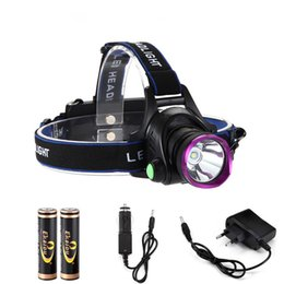$enCountryForm.capitalKeyWord Canada - LED Headlamps 1800 Lumens XM-L XML T6 LED Headlight Flashlight Head Lamp Light 18650 + Direct Charger for Hunting Camping