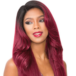 Discount wholesale burgundy peruvian hair - Mink Brazilian Virgin Hair Straight Weaves 3 Bundles with Closuure T1B 99J Burgundy Silk Straight Bundles Ombre Two Tone