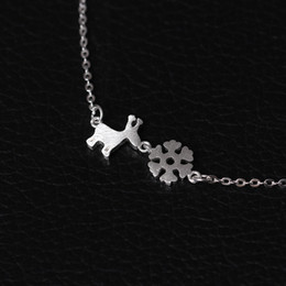 Valentines Gifts Sets Canada - Charms 925 sterling silver pendant necklace Christmas Little Deer snow Necklace luxury chains Fashion sets jewelry valentines day gift women