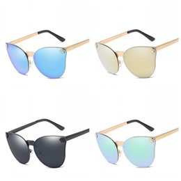 4ffe35e8a32 Men And Women Full Metal Frame Sun Glasses UV Protection Vintage Sunglasses  Fashion Clear Vision Cat Eye Eyeglasses Outdoor 17xf Z