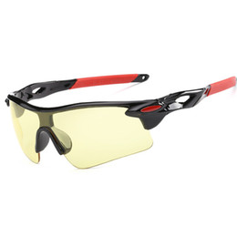 Cheap Clear Sunglasses UK - Cubojue Driving Sunglasses Men Women Anti Explosion TAC Windproof Goggles Yellow Clear Brown Coating Lens UV400 Cheap Wholesale