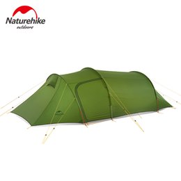 living tents 2019 - Naturehike 2018 New ultralight Opalus Tunnel Tent outdoor family camping hiking 3 Persons large tent discount living ten