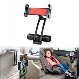 Tablet-Halter-Auto-Rücksitz-Kopfstützen-Berg-Stand, Aluminiumlegierungs-langer Arm-Höhe / Winkel-justierbares Tablet / Handy-Auto-Halter